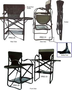 Stylish Camping Ch1310 Tall Director Chair With Full Back