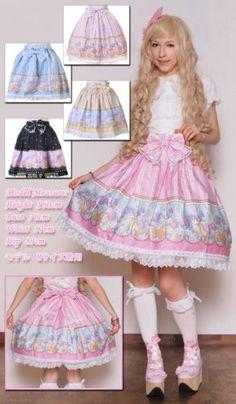 04aeae20a470 Sweet Lolita Bodyline Carousel Pink Small-Medium Skirt and Bow Kawaii Japan