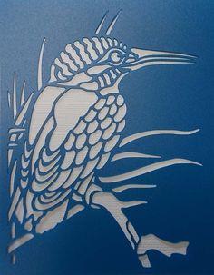 Kingfisher Stencil(Etsy のkraftkutzより) https://www.etsy.com/jp/listing/259979285/kingfisher-stencil