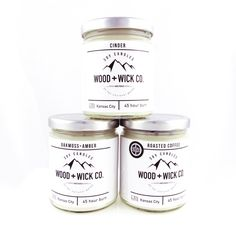 Wood + Wick Co. Soy Candles — Made in Kansas City