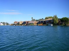 Expensive homes across the waterway