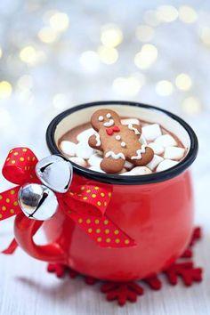 Resultado de imagem para hot chocolate with gingerbread man