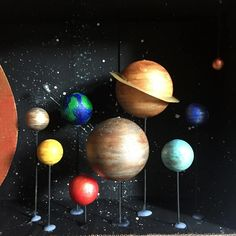 Solar System Model Project, Solar System Science Project, Science Project Models, Solar System Projects For Kids, Solar System For Kids, Space Solar System, Solar System Crafts, Solar System Planets, Science Projects