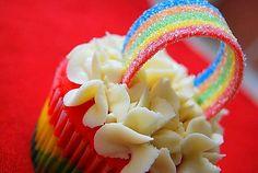 Rainbow cupakes