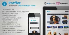 Download and review of Proffet - Responsive WooCommerce Theme, one of the best Themeforest eCommerces themes