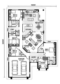 Australian House Plans  Arlington Floor Plan