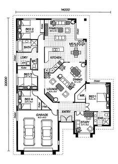 Australian House Plans  Arlington Floor Plan