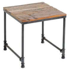 Industrial End Table- make it a desk using pallets?