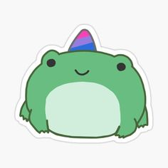 Kpop Stickers, Anime Stickers, Printable Stickers, Cute Stickers, Cute Little Drawings, Easy Drawings, Frog Drawing, Frog Art, Dibujos Cute