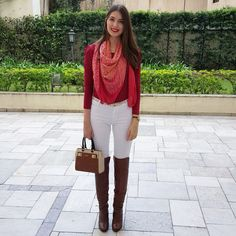 @lookbyus look do dia look of the day style work outfit fashion over the knee white pants