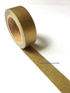Japanese Masking Tape Washi Tape - Gold $3.00