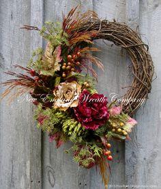 Elegant Autumn Woodland Wreath ~A New England Wreath Company Designer Original~