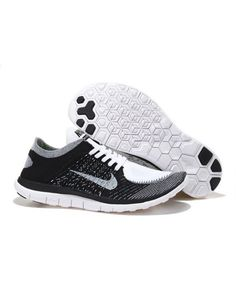 reputable site 93754 4d7f5 Nike Free 4.0 Flyknit Mens UK Sale Black Grey White