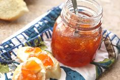 Habanero Peach Jam recipe by Barefeet In The Kitchen. Made without pectin.