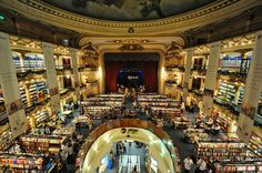 Ataneo Bookstore located in an old theatre in Buenos Aires, Argentina