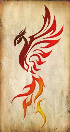The rising Phoenix bird symbolizes the ability to rise above a troubled life and represents victory over death.