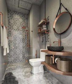 Banheiro incrível pelo escritório NAS studio. #ideiasdiferentes #referencia