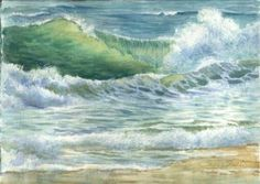 Watercolor wave from Susie Short.