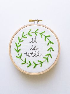 It Is Well With My Soul  Modern Hand Embroidery art in a 4