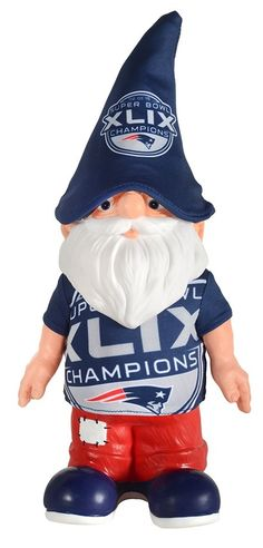 Super Bowl XLIX Champions Thematic Patriots Gnome -  This gnome makes for a fun way to commemorate the big win!