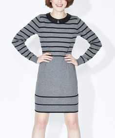 Look at this Sugarhill Boutique Gray & Black Kellie Dress on #zulily today!