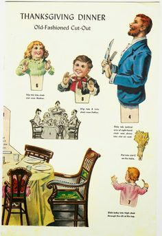 Thanksgiving paper dolls and vintage post cards – Bobe Green – Picasa Nettalbum