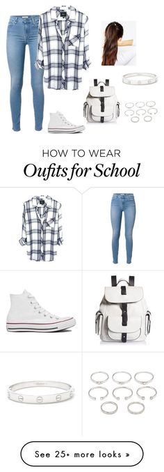 """Anather school day"" by fashionlover4562 on Polyvore featuring Converse, Kenneth Cole Reaction, Forever 21, Cartier and ASOS"
