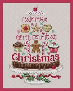 Christmas Calories Counted Cross Stitch Pattern