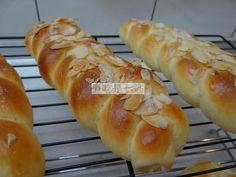辮子麵包 braided bread braid almond