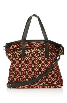 Topshop Tapestry Tote with Faux Leather Trim | Nordstrom