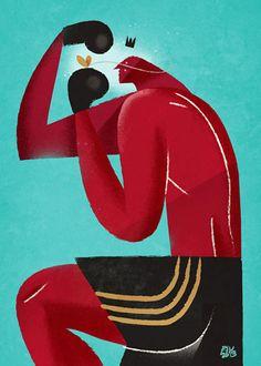 Modernist illustrations by Italian artist Riccardo Guasto
