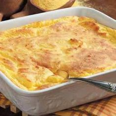 Spoon bread...if you don't know what it is you aren't from the South...comfort food.