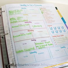 Weekly To Do- click Print the Weekly To Do's/Schedule PDF. Google docs comes up- click file- download pdf comes up- save as! Planner Pages, Printable Planner, Free Printables, Printable Calendars, Binder Organization, Household Organization, College Organization, Organizing Tips, Household Binder