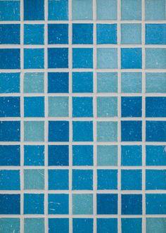 Blue Mosaic Bathroom Tiles   Blue