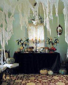 Cheesecloth Spiderwebs halloween crafts crafty spider halloween pictures happy halloween halloween decorations halloween crafts webs halloween ideas halloween decor happy halloween 2013 halloween decoration spiderwebs