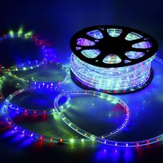 Yescom 150ft RGB 2 Wire LED Rope Light Indoor Outdoor Home Holiday Valentines Party Disco Restaurant Cafe Decoration > Want to know more, visit the site now : home diy lighting