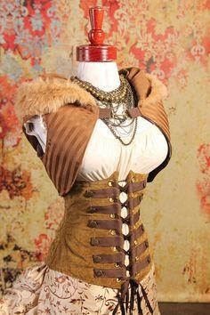 Steampunk Fashion  canvas corset