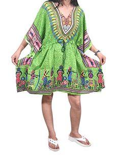 Womans Short Kaftan Caftan Green Printed Lounger Wear Beach Coverup Tunic Tops Mogul Interior http://www.amazon.com/dp/B013BGN1MI/ref=cm_sw_r_pi_dp_nw0Wvb08HSZER