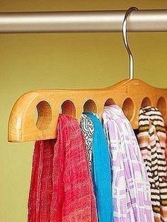 Sjaals ophangen