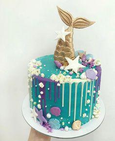 10th Birthday Cakes For Girls, Ocean Birthday Cakes, Candy Birthday Cakes, Cupcakes, Cupcake Cakes, Sirenita Cake, Little Mermaid Cakes, Beautiful Cake Designs, Sea Cakes