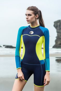 Canoeing - Micosuza Womens Shorty Wetsuit Long Sleeve Neoprene Back Zip Winter Swimwear Long Sleeve Diving Snorkeling Surfing Swimwear -- Have a look at the photo by visiting the web link. (This is an affiliate link). Women's Diving, Diving Suit, Swimming Equipment, Board Shorts Women, Fitted Jumpsuit, Womens Wetsuit, Cycling Girls, Swimsuits, Swimwear