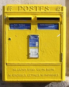 Paris Yellow Post Box 8x10 Photograph - Paris, France - Affordable Home Decor. $30.00, via Etsy.