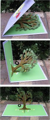 CornerstoneLAE: Pop-up cards Cuento Pop Up, Papel Origami, Origami Tree, Origami Cards, Diy Popup Cards, 3d Cards, Folded Cards, Popup Cards Tutorial, Paper Cards