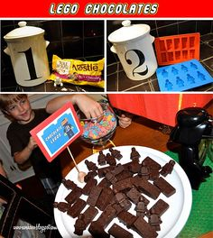 Lego Chocolate. @DeeDee Murphy This looks like something your boys would love too!