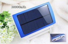 new free shipping power bank 30000mah power solar battery solar charger solar power bank for Nokia iPhone Samsung series $26.69
