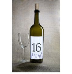 Custom Wine Labels as Table Numbers, available in many elegant designs!