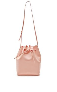 Large Bucket Bag In Rosa with Rosa Interior by Mansur Gavriel for Preorder on Moda Operandi