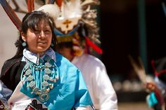 A Zuni Native American Indian Dancer Performs in New Mexico.  by Jolly Sienda