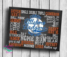 Customized BASEBALL coach gift personalized by sweetMEboutique