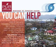 Get Beautiful Skin with PUR attitude AND Support Victims of Typhoon Haiyan
